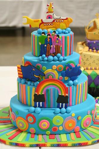 Very cool wedding cake by NoNo Joe.