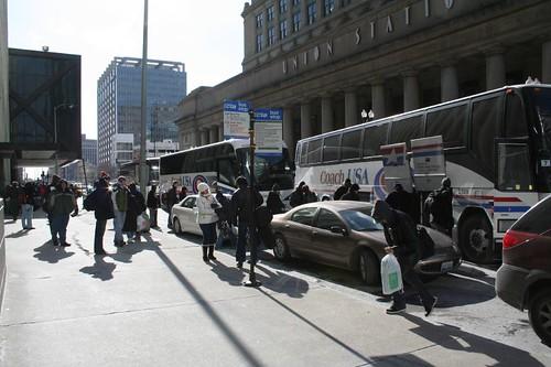Megabus loading