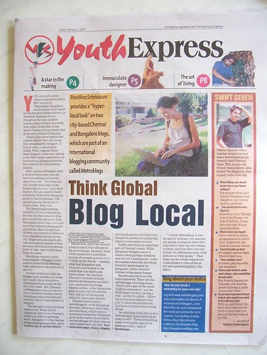 New Indian Express on Metblogs