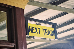 next train (~ Di ~) Tags: sign signage directional nexttrain