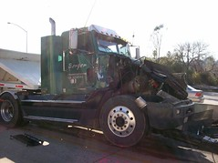 Damaged Big Rig. © Photo by Evan Williams.