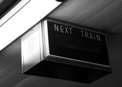 Next Train: Never (life exposed) Tags: toronto ontario canada sign subway ttc coxwell nexttrain