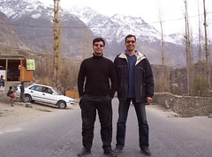 With Umer in Hunza (Adeel Haider) Tags: hunza expidition