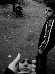 Mirror (In City) (Levan Kakabadze) Tags: urban bw face kids georgia mirror blackwhite peace neighbourhood myhand onelove batumi tabu adjara allrightsreserved   ajaria abigfave artlibre superbmasterpiece levankakabadze