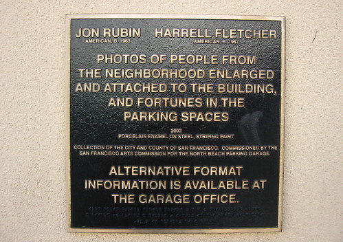 North Beach Parking Garage public art information