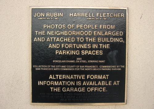 North Beach Parking Garage public art information