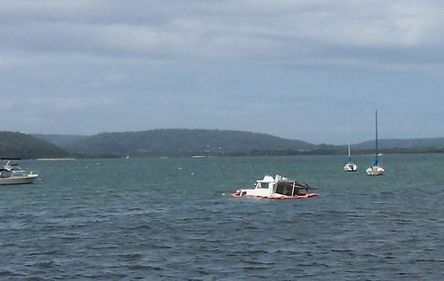 Sinking fast off Tascott on Brisbane Water