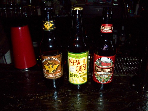 three gluten-free beers, one bar