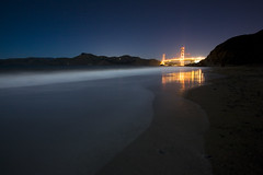 full moon, baker beach (john curley) Tags: sanfrancisco night nightshot goldengatebridge moonlight nightshots bakerbeach jordanpic