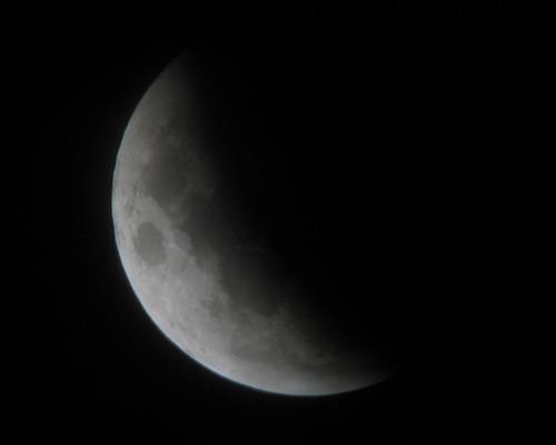 Schatten der Erde aufm Mond ^^