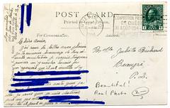 old postcard - flipside