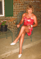 Red Sundress (Miss Kellie Keene) Tags: beautiful lady pretty transgender lovely elegant miss tg kellie misskellie