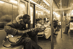 musician in antique (randhirsingh) Tags: nyc musician music usa newyork train subway q
