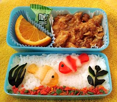 Aquarium Bento, top view (Sakurako Kitsa) Tags: fish asian lunch aquarium bento sakurako obento kitsa abigfave sakurakokitsa