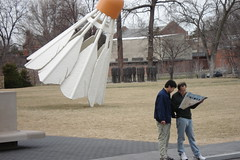 Shuttlecock (Menazort) Tags: plaza city winter brown art love sport museum asian japanese tokyo flickr thought looking christ image maps jesus christian mo kansascity planning missouri emergence kansas subgenius badminton racket shuttlecock cooperation fadingwinter menazort