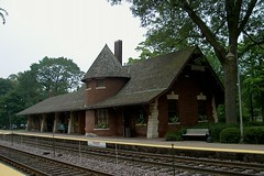 The Metra Glencoe Illinois USA commuter rail station. August 2006.