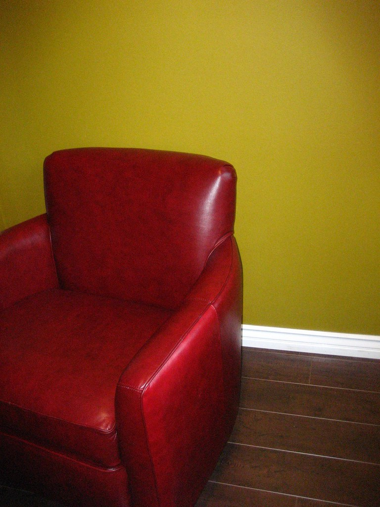 My Red Leather Chair!!