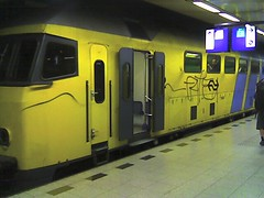 The train to Amsterdam from Schiphol airport