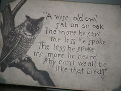 Wise Old Owl and Oak (Cabinet of Old Secret Loves) Tags: