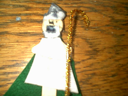 St. Patrick wooden spoon figure