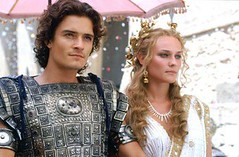 ORLANDO BLOOM as Paris and DIANE KRUGER as Helen in Warner Bros Pictures epic action adventure also starring Brad Pitt and Eric Bana