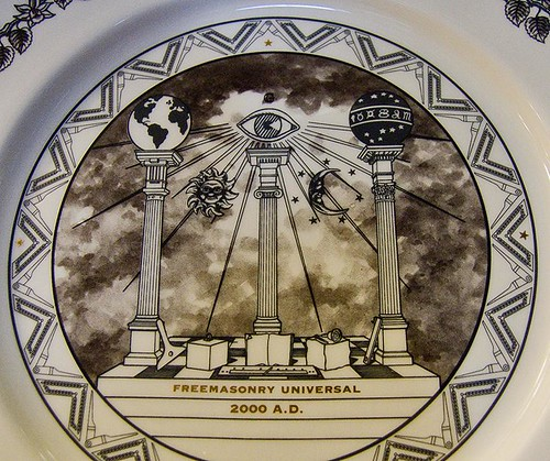 Freemasonry Universal 2000 AD.  Decorated iconographic plate.