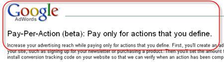 Google Pay-Per-Action beta (soon?)