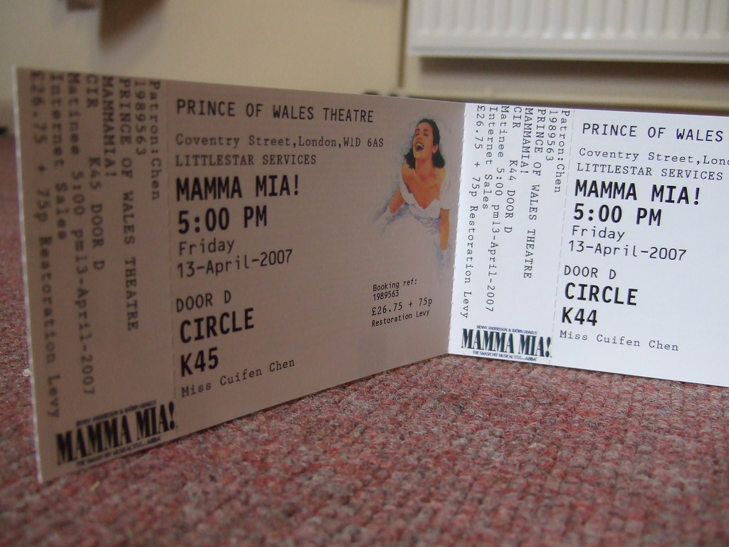 21/3/07 - Mamma Mia! Tickets