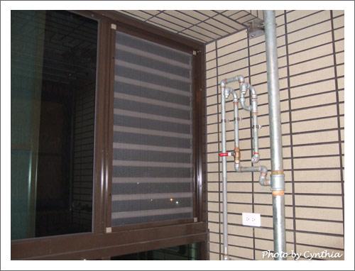 排氣鋁條上裝了紗窗