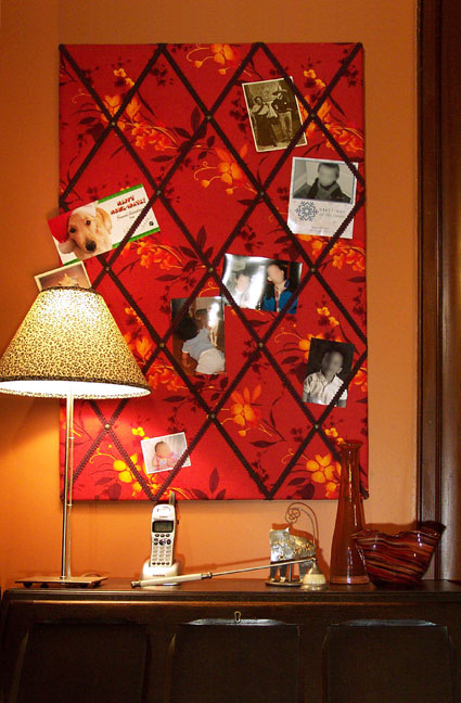 French memo board in situ