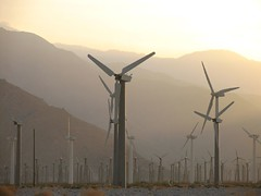 The Tribe of the Wind (karate...CHOP!) Tags: sunset palmsprings desolate windturbine