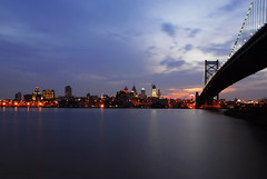 Philly (glenOX [glen navarra]) Tags: longexposure bridge philadelphia pennsylvania camden explore philly d200 benjaminfranklinbridge 18200mm