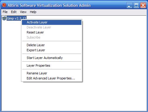 SVS - installazione Gimp - attiva layer 1