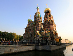 Russia (` Toshio ') Tags: city travel building church water architecture river painting stpetersburg religious russia religion seawall saintpetersburg toshio churchonspilledblood assination khramspasanakrovi resurrectionchurchofoursaviour tsaralexanderii travelerphotos