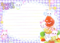 Sweet Party (lightning_lover) Tags: memo kawaii stationery notepaper kamio