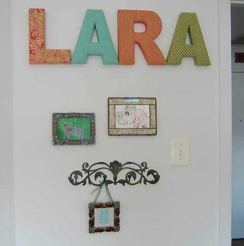 Lara's name wall