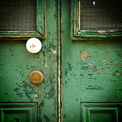Paint Chips (Wade Griffith) Tags: old green paint doors lock decay neworleans explore doorknob frenchquarter worn chipped vignette cracked battered wadegriffith nikond80 utata:project=upportfolio utata:displaysize=medium wadegriffith2010