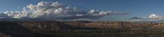 Mesas and clouds (cbkiyanda) Tags: sunset panorama newmexico clouds pentax canyon autopanosift stitching mesa losalamos hugin k10d