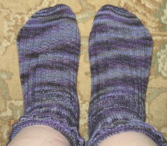 Black Purl Socks
