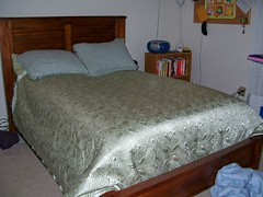 My bed, made