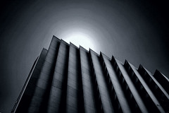 Folding into the sun (blinked) Tags: sanfrancisco blackandwhite embarcadero highrise 1020mm weeklysurvivor intothesun diffim