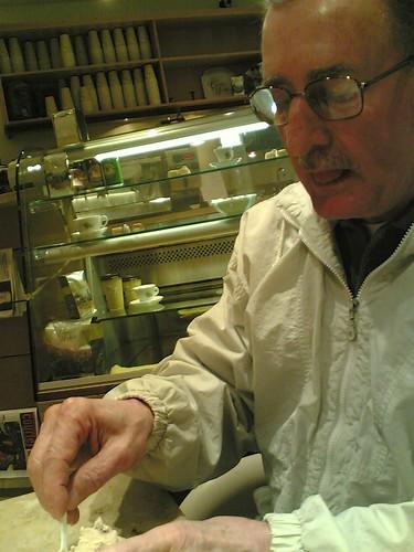 Dad digs the gelato