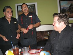 The waiters sing Las Mañanitas to Tom. (04/01/07)
