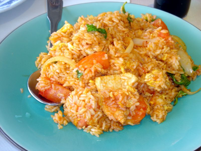 Tomato & Basil Fried Rice