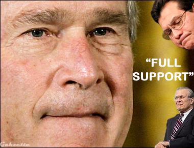 Bush Full Support Gonzo Rummy
