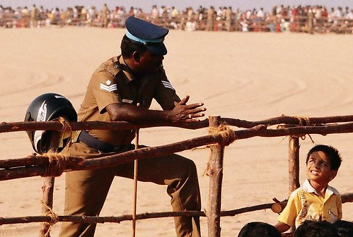 Policeman and the kid