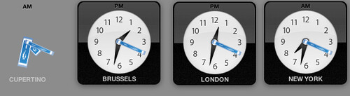 Toasted clocks on OS X Dashboard