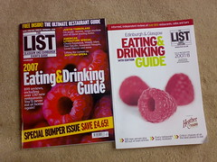 The List eating and drinking guide 2007