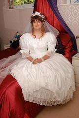 Bride (justplainrachel) Tags: uk white visions bride tv veil feminine cd makeup crossdressing dressing tgirl clothes wig tranny transvestite crossdresser transvestism xdress justplainrachel