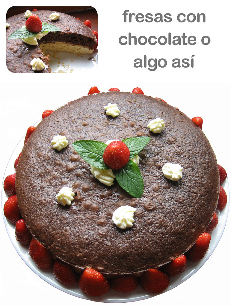 Fresas con chocolate o algo as�